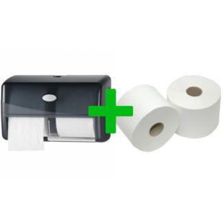 Duo Deal: Toiletroldispenser Compactrollen Pearl Black