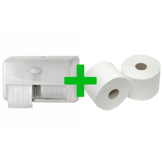 Duo Deal: Toiletroldispenser Compactrollen Pearl White