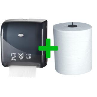 Duo Deal: Handdoekautomaat Autocut Pearl Black