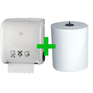 Duo Deal: Handdoekautomaat Autocut Pearl White