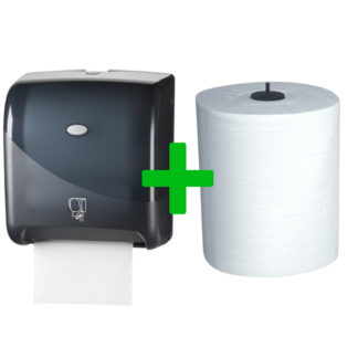 Duo Deal: Handdoekautomaat Tear & Go Pearl Black
