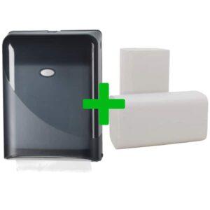 Duo Deal: Handdoekdispenser Pearl Black