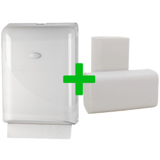 Duo Deal: Handdoekdispenser Pearl White