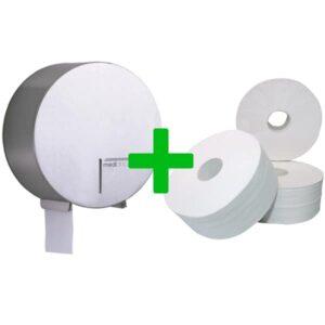 Duo Deal: Jumboroldispenser Mediclinics RVS
