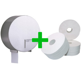 Duo Deal: Jumboroldispenser Mediclinics RVS