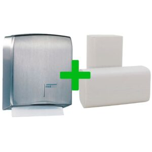Duo Deal: Handdoekdispenser Mediclinics RVS