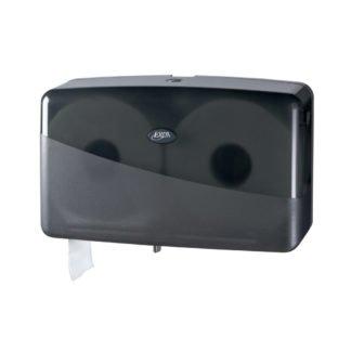 Pearl Black Duo Mini Jumbo Toiletroldispenser