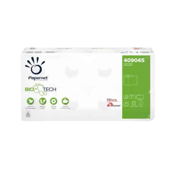 Papernet 409045, Biotech Toiletpapier Traditioneel, 250 vel, Superior, 3-lgs, 72 rollen