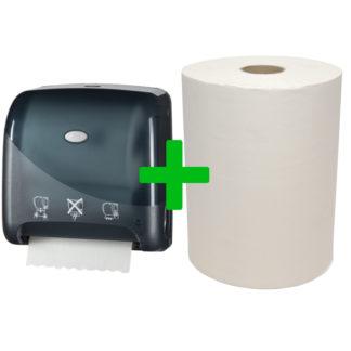 Duo Deal: Handdoekautomaat Mini Matic Pearl Black