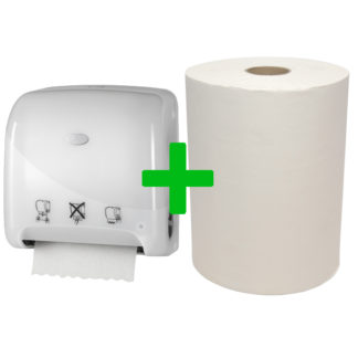 Duo Deal: Handdoekautomaat Mini Matic Pearl White