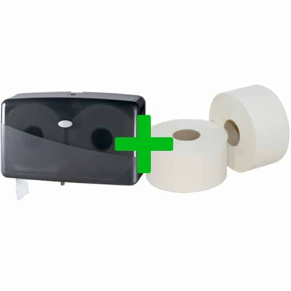 Duo Deal: Duo Mini Jumbotoiletroldispenser Pearl Black
