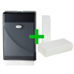 Duo Deal: Minifold Handdoekdispenser Pearl Black