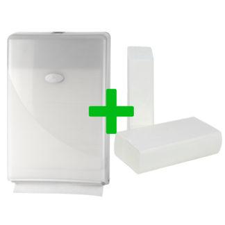 Duo Deal: Minifold Handdoekdispenser Pearl White