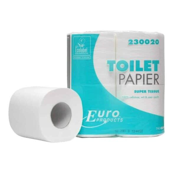 Euro Products 230020, Eco Toiletpapier, 200 vel, Traditioneel Tissue Cellulose, 2-lgs, 48 rollen