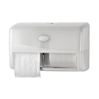 Pearl White Duo Toiletroldispenser