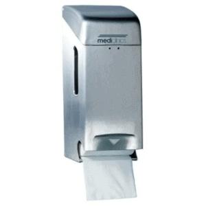 Mediclinics Toiletroldispenser 2 rol RVS Mat