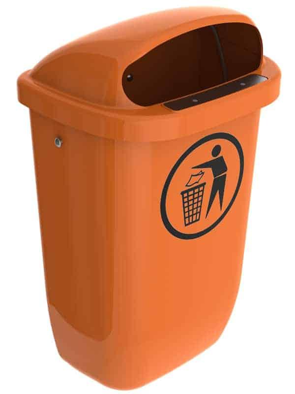 Buitenafvalbak DIN-PK 50ltr Oranje