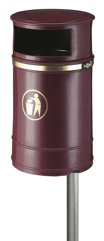 Buitenafvalbak Nickleby 40ltr Bordeaux