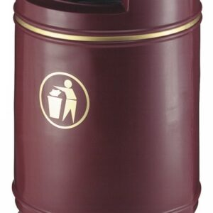 Buitenafvalbak Copperfield 90ltr Bordeaux