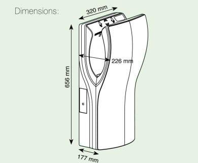 Handendroger Twinflow RVS Look