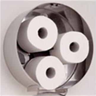 Mediclinics Toiletroldispenser 3 rol RVS Mat Rond