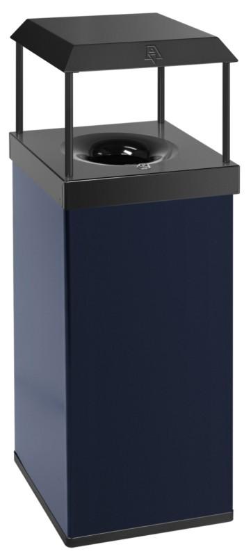 Buitenafvalbak Vlamdovende Papierbak 110ltr Blauw/Zwart
