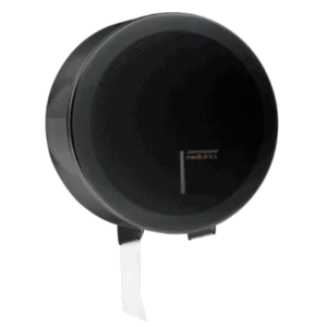 Jumbo Toiletroldispenser Mini Zwart