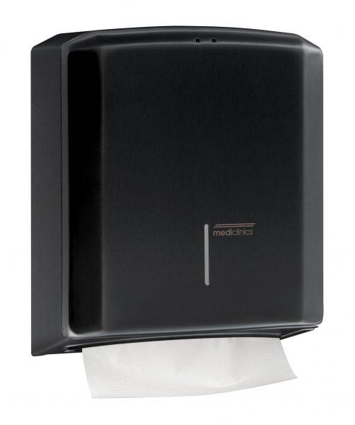 Zwarte handdoekdispenser Mediclinics