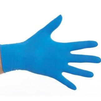 Latex Handschoen Poedervrij Blauw