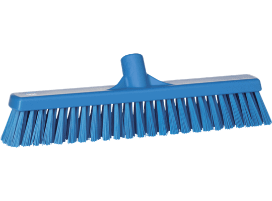 Vikan Combiveger Blauw, harde/zachte vezels, 40cm