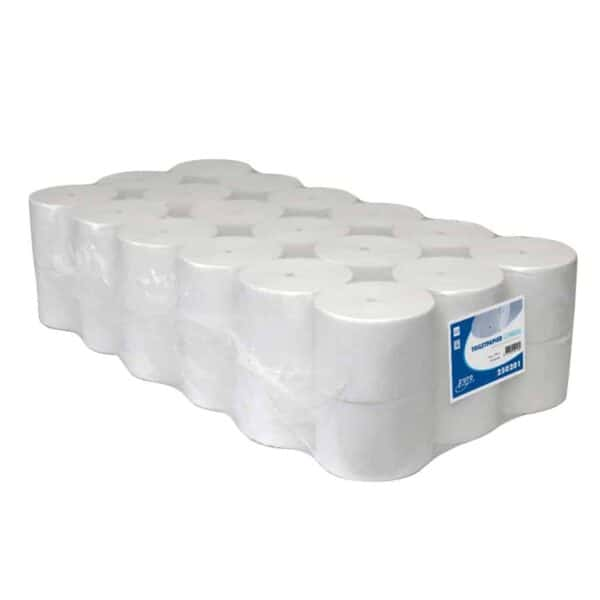 Euro Products 250201, Eco Toiletpapier Coreless, 1400 vel, Recycled Wit, 1-lgs, 36 rollen