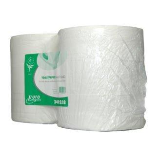 Euro Products 240238, Eco Toiletpapier Maxi Jumbo, 380mtr, Tissue Wit, 2-lgs, 6 rollen