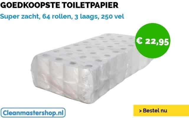 Zacht en goedkoop toiletpapier