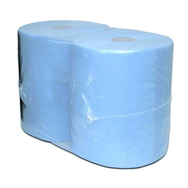Industriepapier Blauw Cellulose, 380mtr, Verlijmd, 2-lgs, 2 rollen