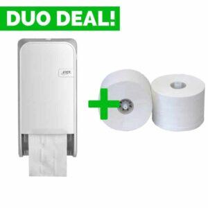 Duo Deal: Quartzline Doproldispenser + Toiletpapier