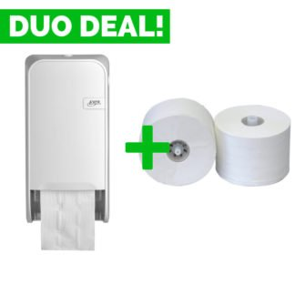 Duo Deal: Quartzline Doproldispenser + Toiletpapier
