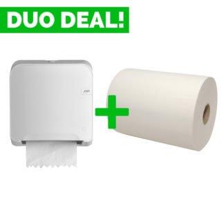 Duo Deal: Quartzline Handdoekautomaat + Handdoekrollen