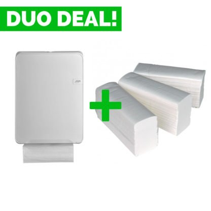 Duo Deal: Quartzline Handdoekdispenser + Handdoekpapier