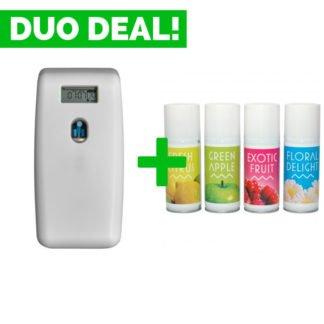Duo Deal: Quartzline Luchtverfrisser Digitaal + Geurvullingen