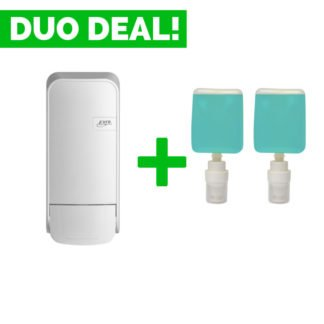 Duo Deal: Quartzline Zeepdispenser 1000ml + Zeep