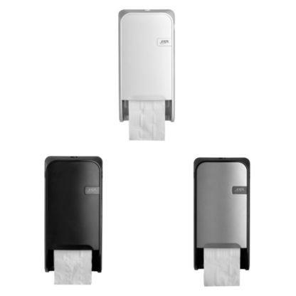 Quartzline Toiletrolhouders voor doprollen verkrijgbaar in White, Black en Silver