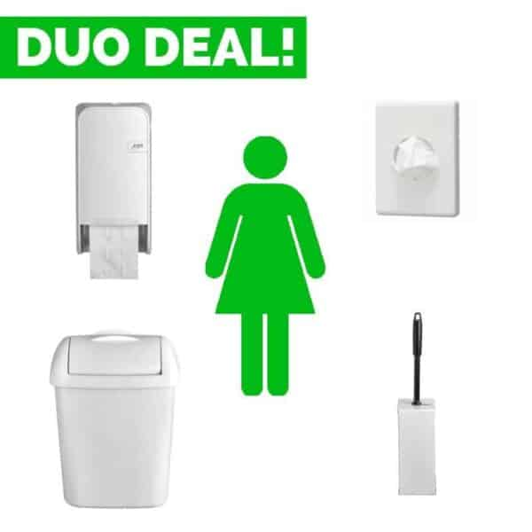 Toiletinrichting Damestoilet White Quartz