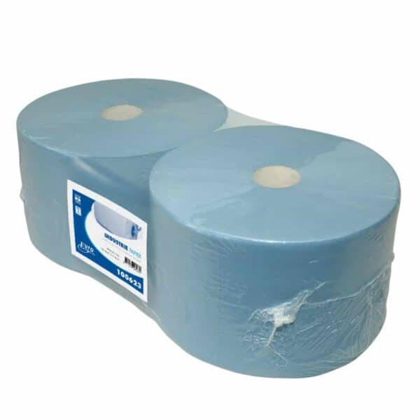 Industriepapier Cellulose blauw 3-laags