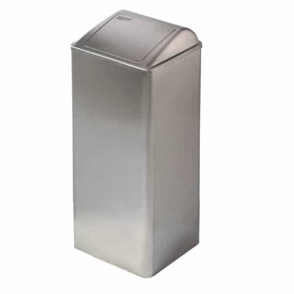 Dutch Bins Afvalbak 80L Dicht RVS