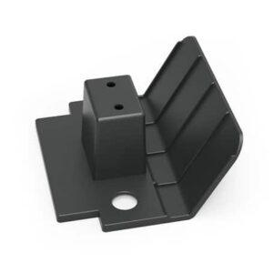 Vlakmopsteun zwart recycled, 910364