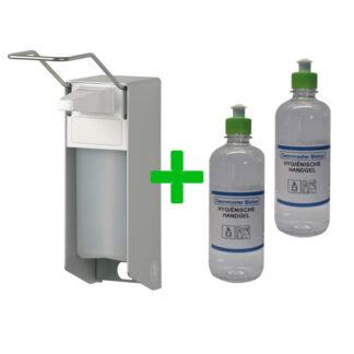 Ingo-man elleboogdispenser met 2 liter handgel