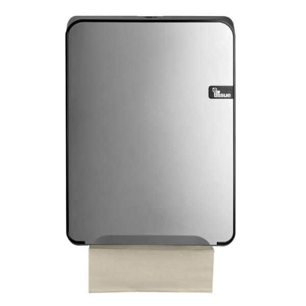 E-Tissue Handdoekdispenser Zilver, E447192