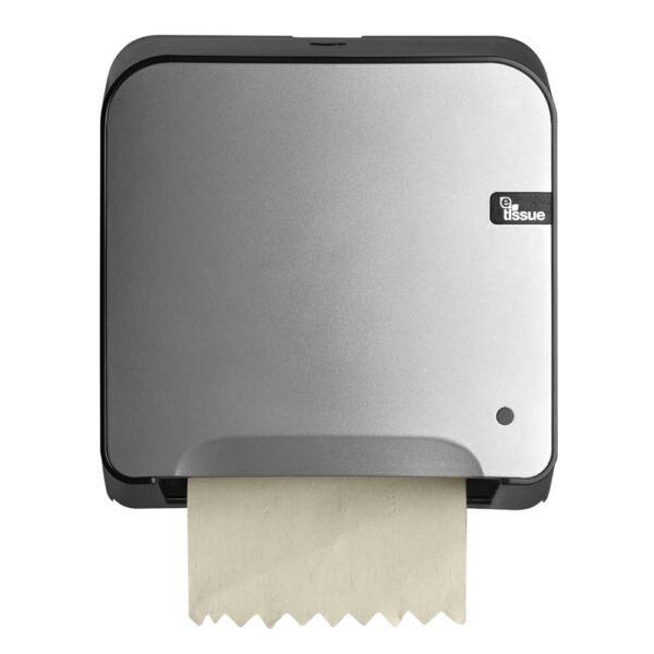 E-Tissue Mini Matic Handdoekautomaat Zilver, E447199