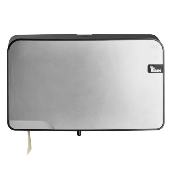 E-Tissue Toiletrolhouder Mini Jumbo Zilver, E447097