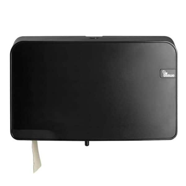 E-Tissue Toiletrolhouder Mini Jumbo Zwart, E447057